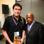 With civil rights leader Congressman John Lewis at Comic-Con 2013
